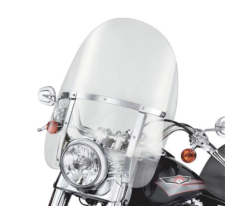Harley-Davidson® King-Size Detachables™ Windshield | Softail® Models | 21 Inch Clear/Polished Braces