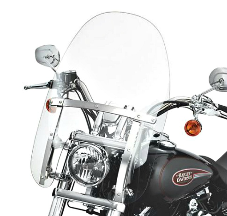 Harley Davidson Windshields >> Harley Davidson Quick Release Detachable Compact Windshield 18 Inch Clear 58346 06