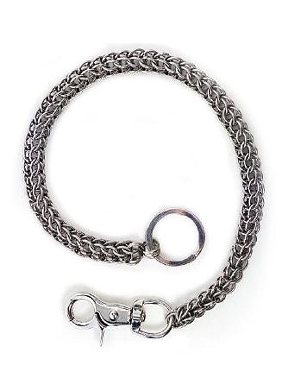 "Hair Glove® Men's Multi-Ring Wallet Chain | Stainless Steel | 18"" Chain"