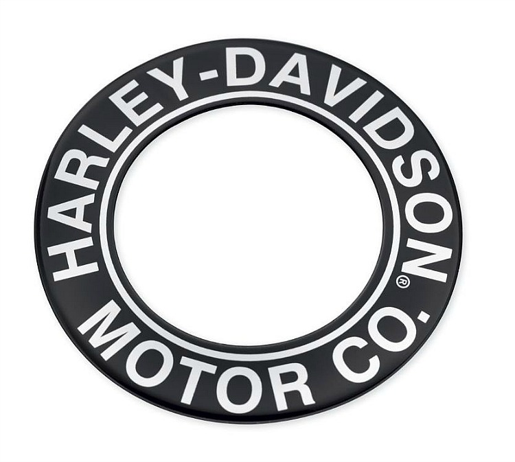 Harley-Davidson® H-D Motor Co. Black Collection | Fuel Cap Medallion | Black | '15-Later Street™ Models