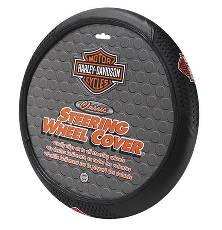 Harley-Davidson® Classic Steering Wheel Cover | Orange Bar & Shield®