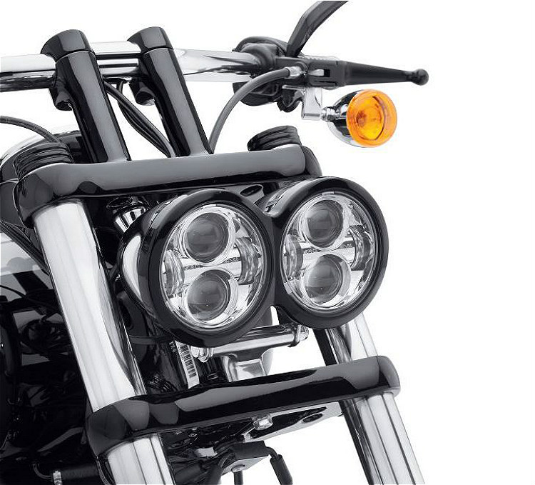 Harley-Davidson® Daymaker™ Projector LED Head-Lamps | '08-'17 Fat Bob® | Chrome