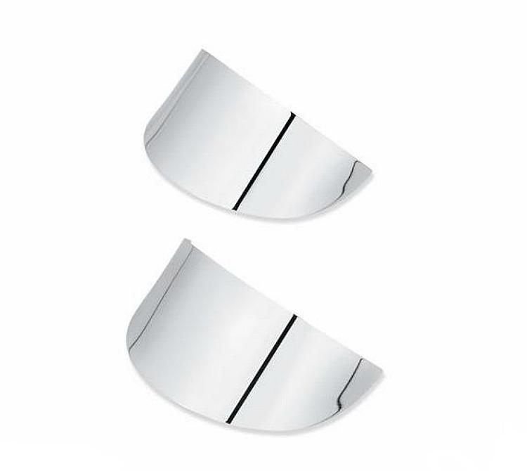 Harley-Davidson® Turn Signal Visors - Flat Lens - Classic Chrome - Rear
