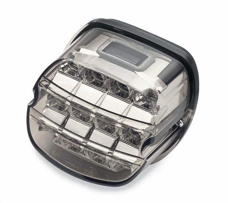 Harley Davidsonu0026reg; Layback LED Tail Lamp | Smoked Lens With License Plate  Lamp