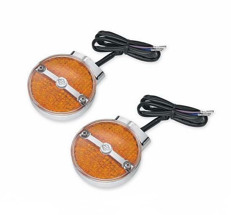 Harley-Davidson® Front LED Flat Lens Turn Signal Kit