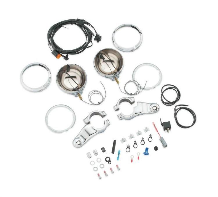 Harley-Davidson® Chrome Auxiliary Lighting Kit