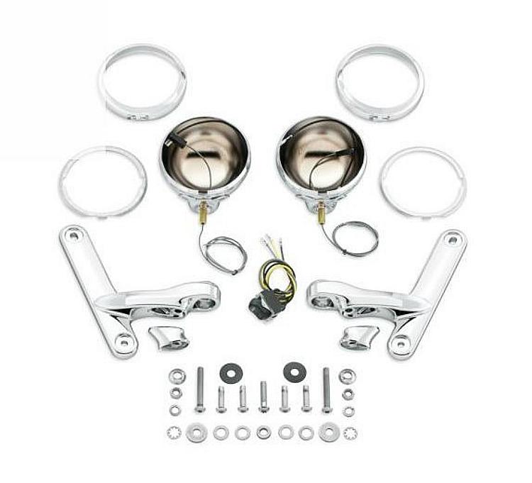 Harley-Davidson® Custom Auxiliary Lighting Kit - Chrome
