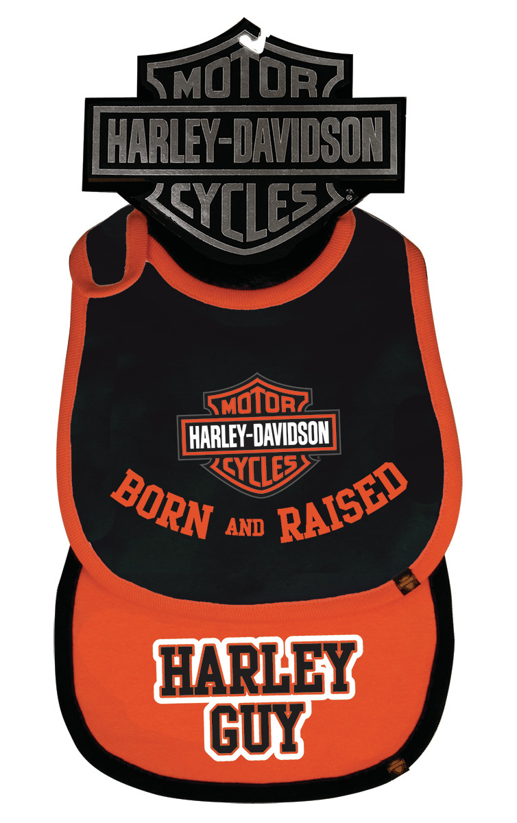 Harley-Davidson® Boys' Black & Orange Bib Two Pack