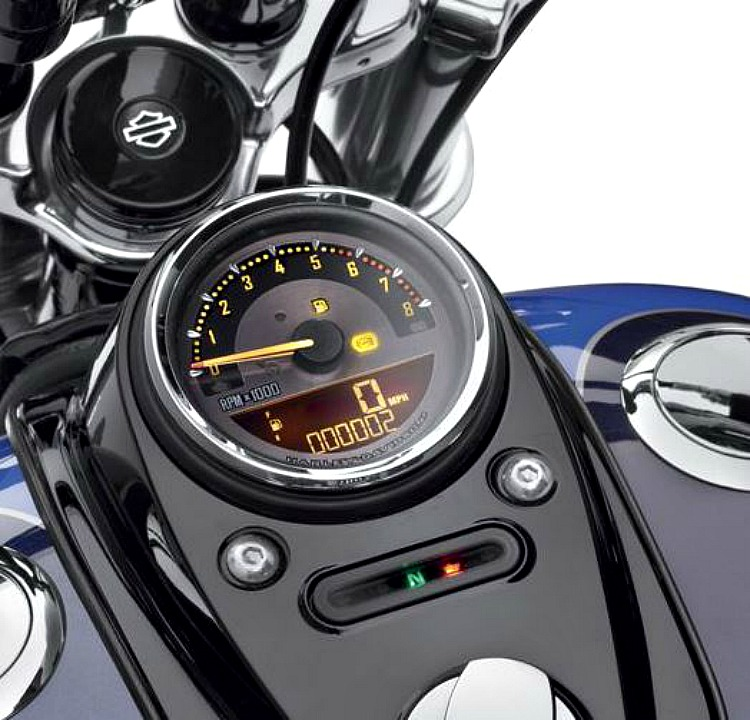 Harley-Davidson® Combination Digital Speedometer/Analog Tachometer - 4""