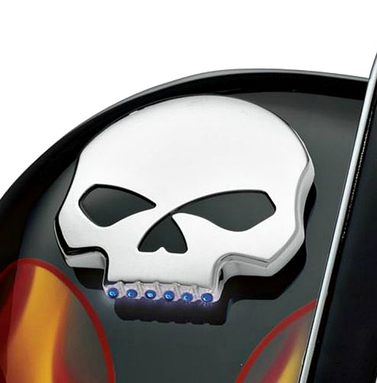 Harley-Davidson® Willie G® Skull Chrome Collection | LED Fuel Gauge