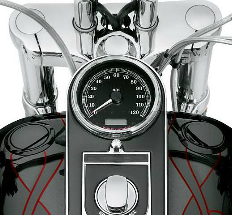 Harley-Davidson® Fuel Cap and Gauge Kit | Flush-Mount | Gloss Black