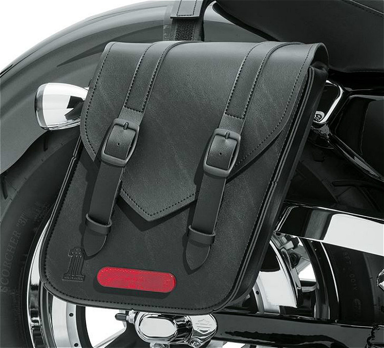 Harley-Davidson® Black Standard Line Throw-Over Saddlebag | Compact