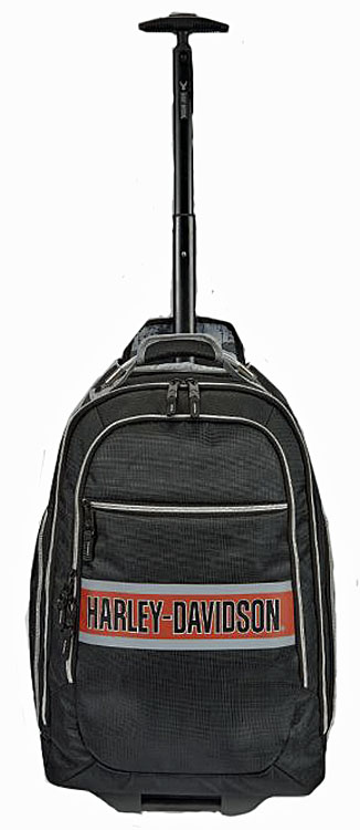 Harley-Davidson® TrailBlazer Wheeling Backpack | Bar & Shield® Logo | Portable Charging Option
