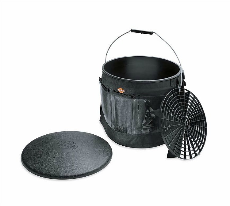 Harley-Davidson® Bike Wash Bucket with Multi-Pocket Apron