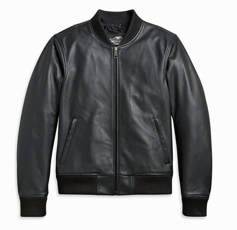 Harley-Davidson® Men's Leather Bomber Casual Jacket   Make It Your Own