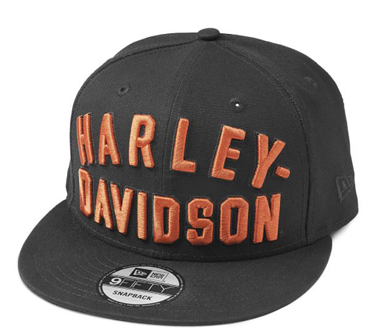 Harley-Davidson® Men's 9FIFTY® Embroidered Arched Graphic Baseball Cap | Black | New Era® | One Size Fits Most