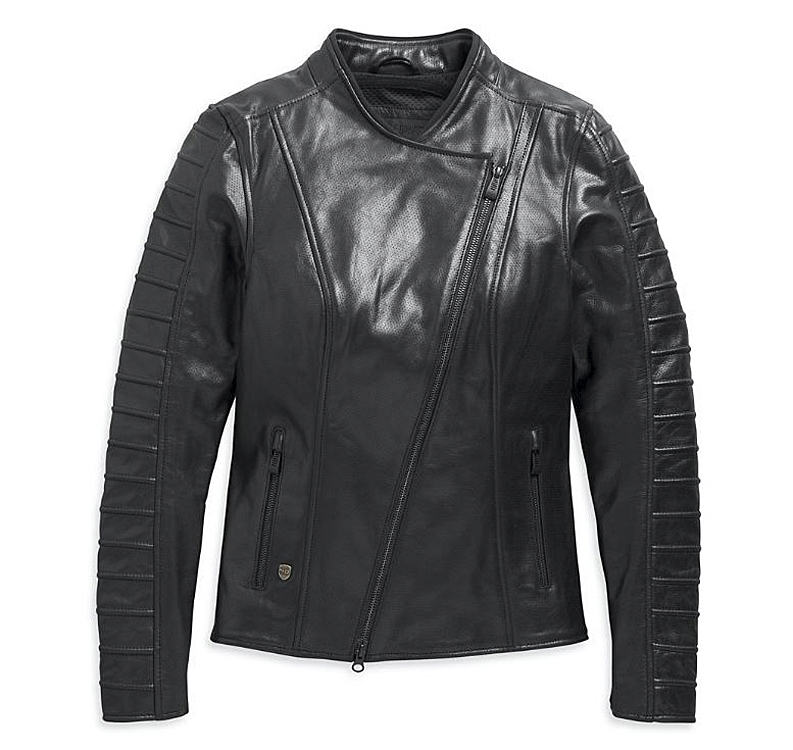 Harley-Davidson® Women's Ozello Perforated Leather Riding Jacket | CoolCore® Technology