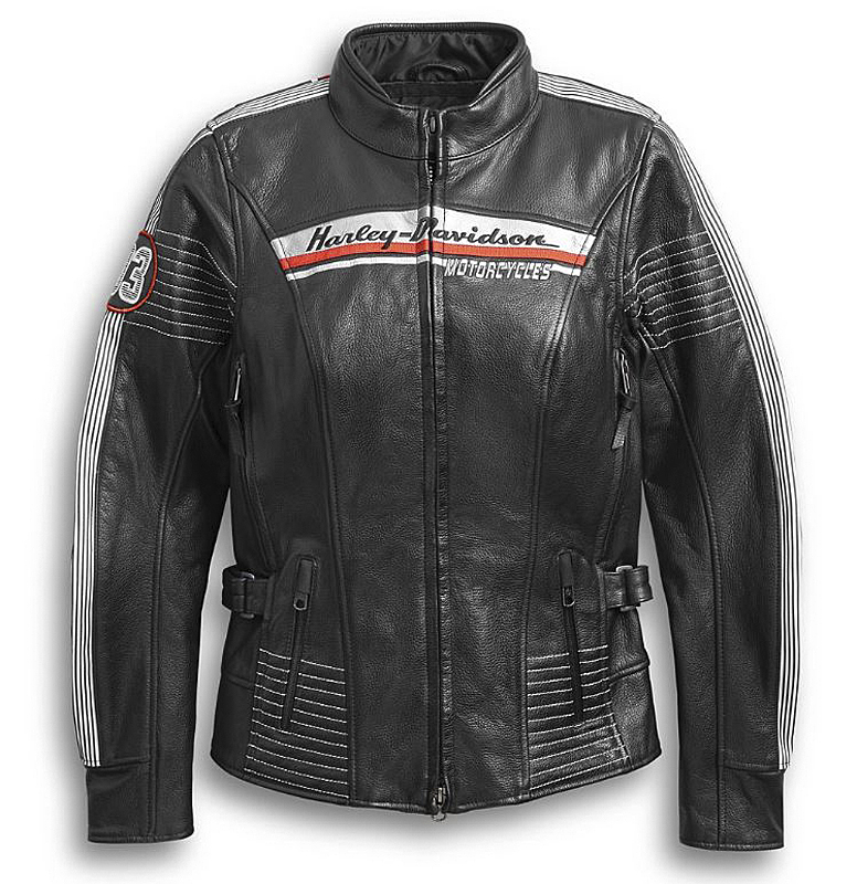 Harley-Davidson® Women's Adraga Waterproof Leather Riding Jacket | Triple Vent System™