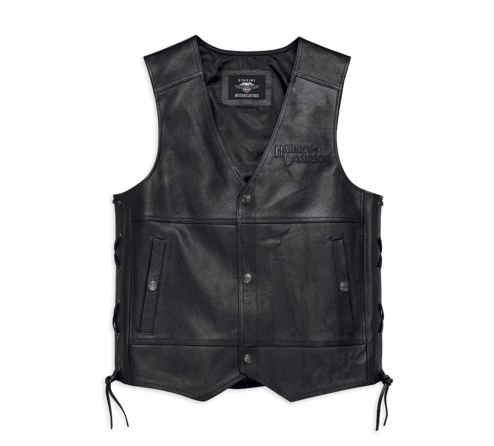 Harley-Davidson® Men's Tradition II Leather Vest | Customizable