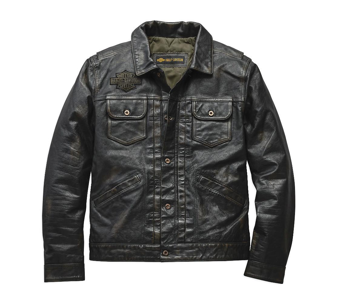 Harley-Davidson® Men's Digger Casual Leather Jacket | Slim Fit