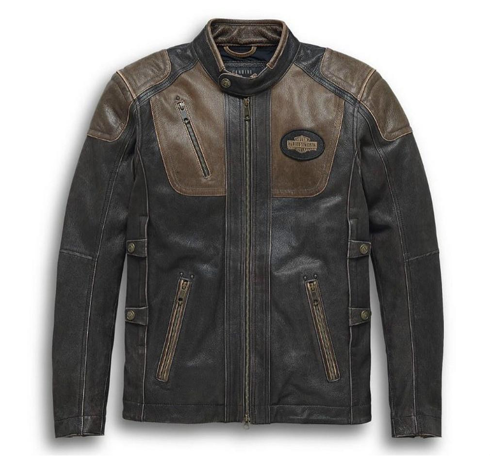 Harley-Davidson® Men's Trostel Leather Riding Jacket | Triple Vent System™ | CoolCore® Technology