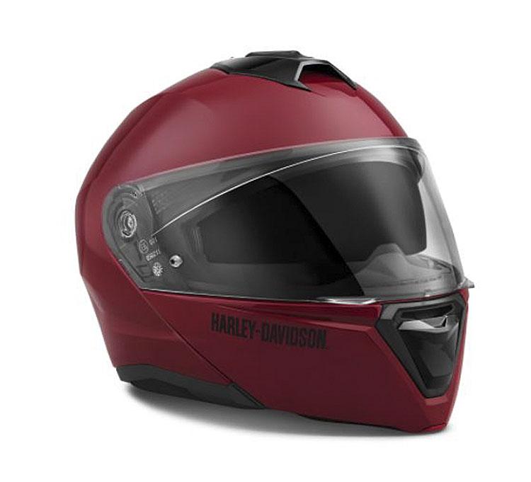 Harley-Davidson® Unisex Capstone Sun Shield II H31 Modular Helmet | Billiard Red