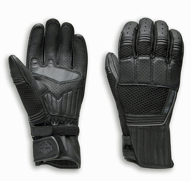 Harley-Davidson® Men's Oreti Vented Under-Cuff Gauntlet Gloves | Mixed Media | Touch-Screen Compatible