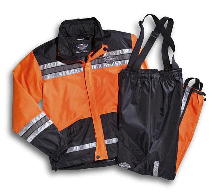 Harley-Davidson® Men's Hi-Vis Rain Suit | Orange