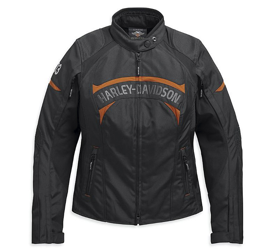 Harley-Davidson® Women's Killian Textile Riding Jacket | Removable Waterproof Liner | Fixed Body Armor