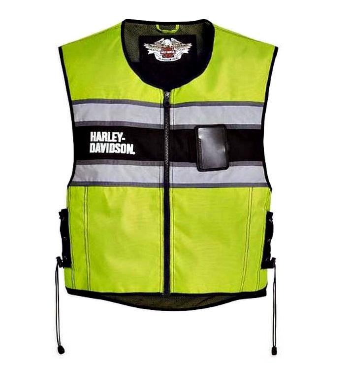 3901b7bb99bb6 Harley-Davidson® Men's Yellow Hi-Vis Motorcycle Safety Vest 98173-10VM