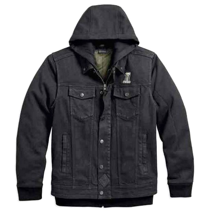 Harley-Davidson® Men's Black Label 3-in-1 Denim Riding Vest-Over ...