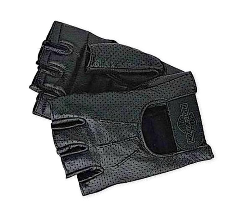 1631928ef44839 Harley-Davidson® Men's Perforated Fingerless Gloves 98182-99VM