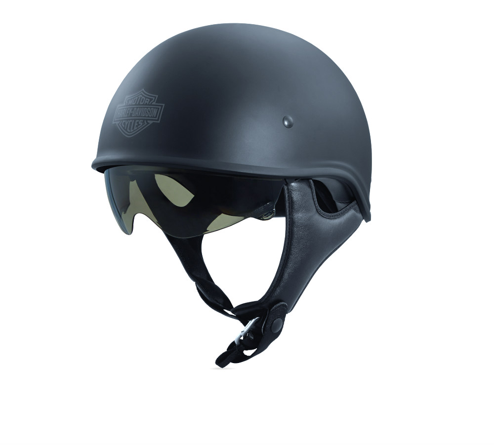 Harley-Davidson® Unisex Curbside X06 Half Helmet | Sun Shield | Matte Black