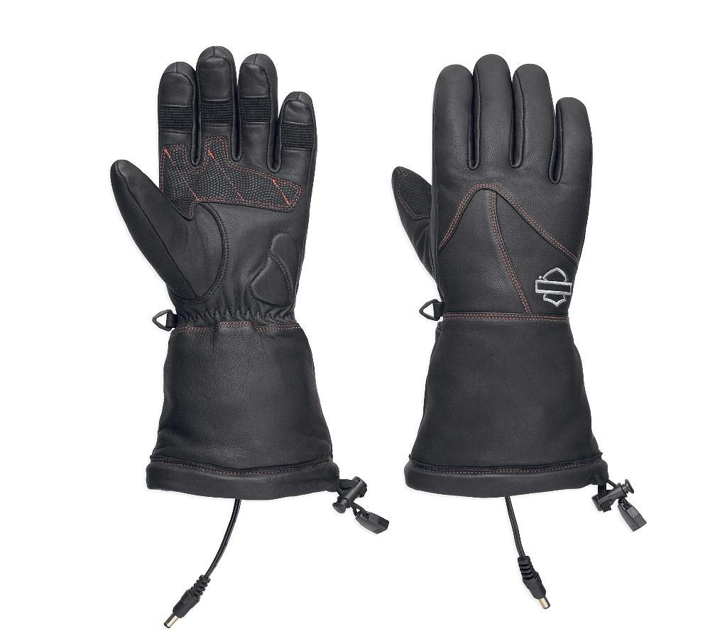 Harley-Davidson® Women's Heated BTC 12V Leather Gauntlet Gloves | Waterproof