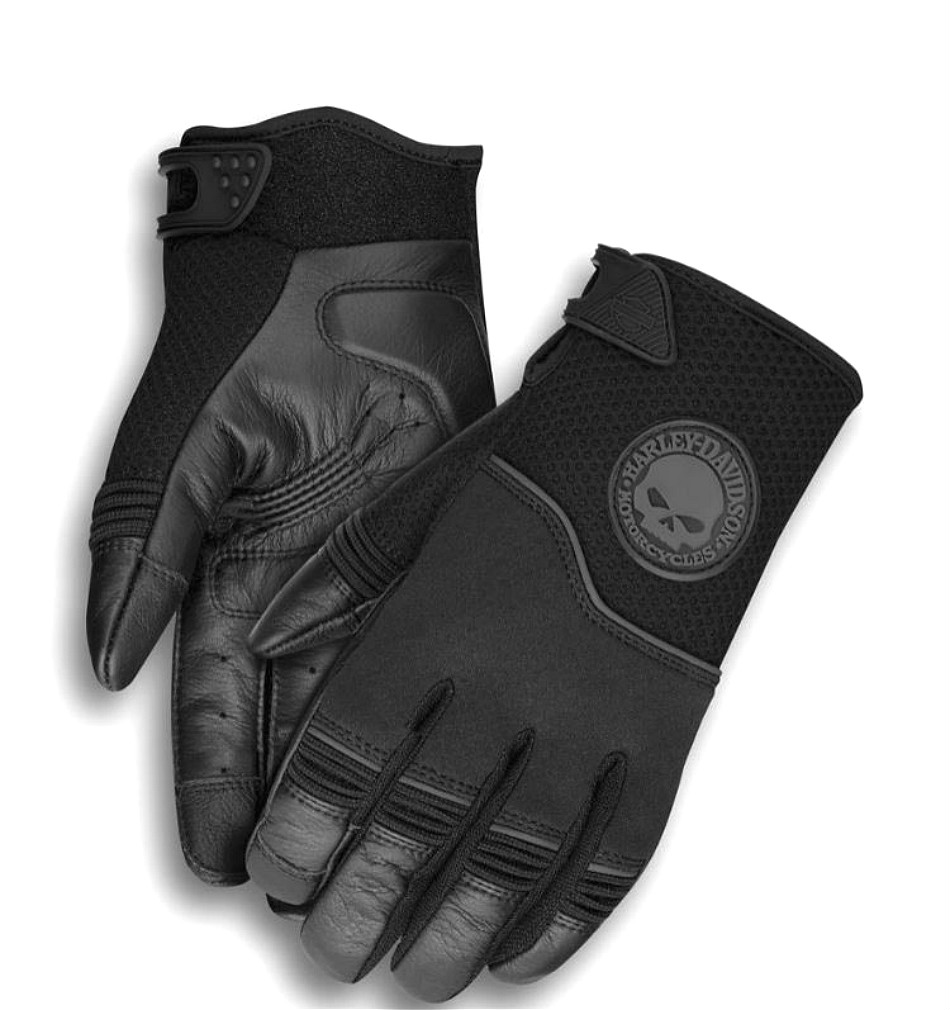 Harley-Davidson® Men's Mixed Media Newhall Gloves | CoolCore® Technology