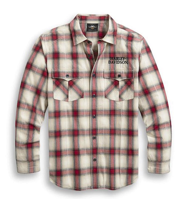 Harley-Davidson® Men's Freedom Plaid Shirt | Yarn Dyed | Long Sleeves