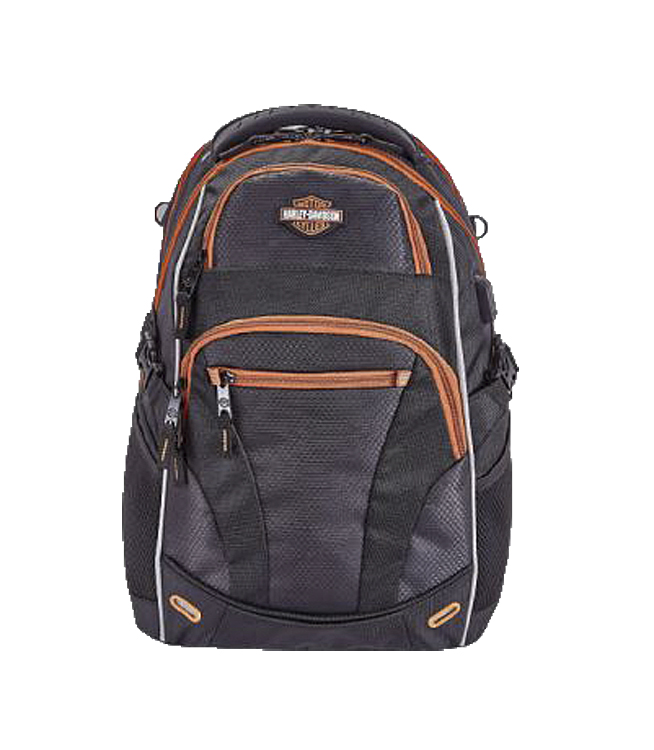 Harley-Davidson® Renegade II USB Backpack   Hide-Away Rain Cover