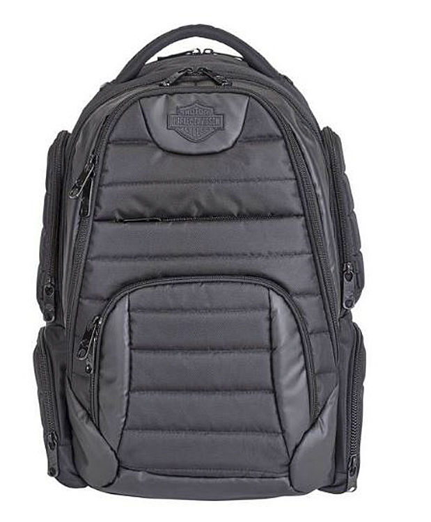 Harley-Davidson® Quilted Backpack | Extra Padding | 9 Zipper Pocket Sections