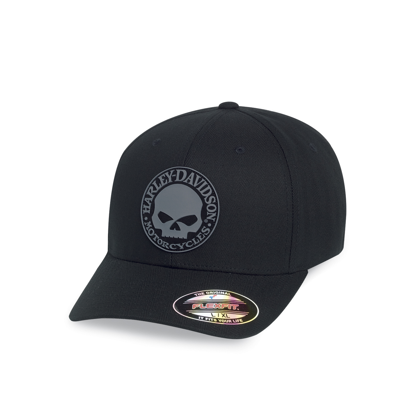 ce149fa9c Harley-Davidson® Men's Rubber Skull Patch Stretch Fit Cap | Flexfit® -  99409-16VM/000S