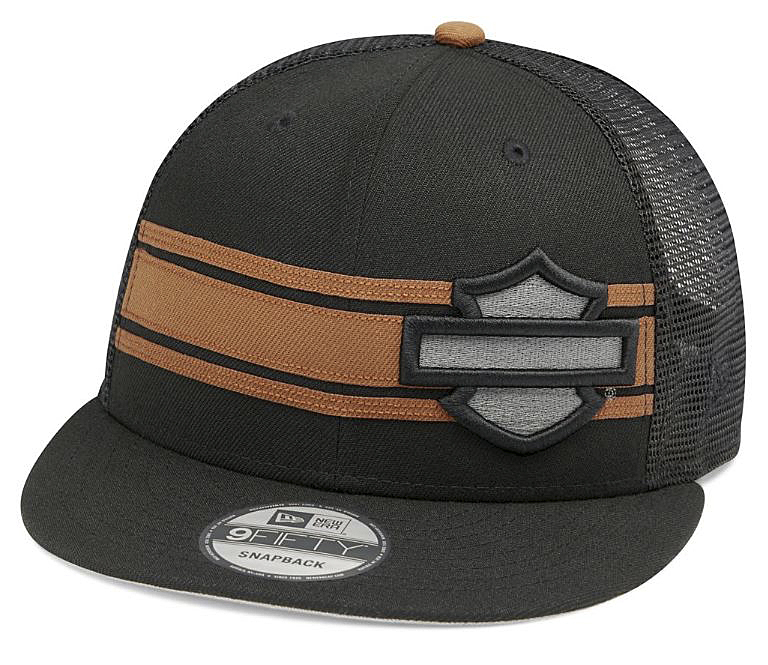 Harley-Davidson® Men's Stripe & Logo 9FIFTY® Baseball Cap | New Era® | Mesh Back | One Size Fits Most