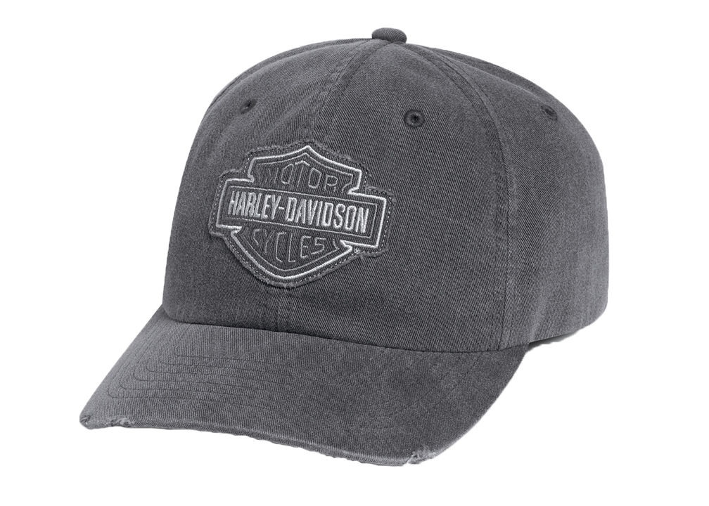 Harley-Davidson® Men's Frayed Tonal Logo Baseball Cap | Bar & Shield® | One Size Fits Most