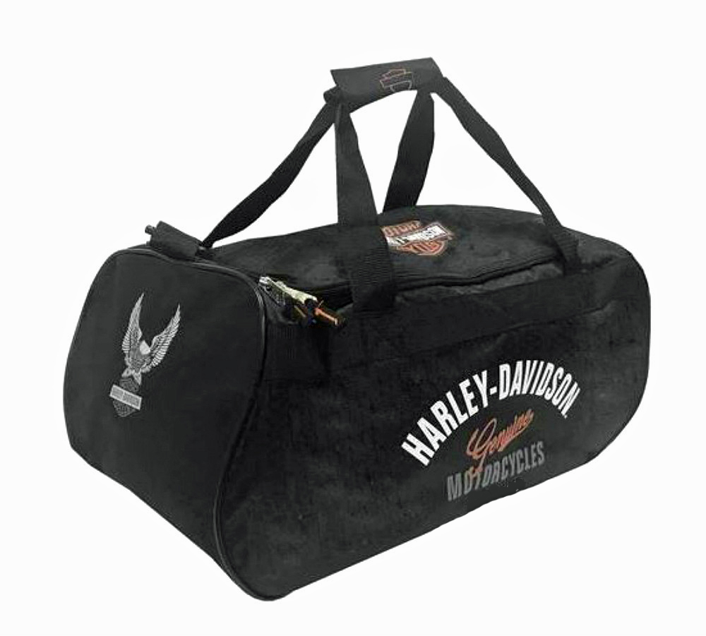 Harley-Davidson® Tail of the Dragon Black Duffel Bag | Water Resistant