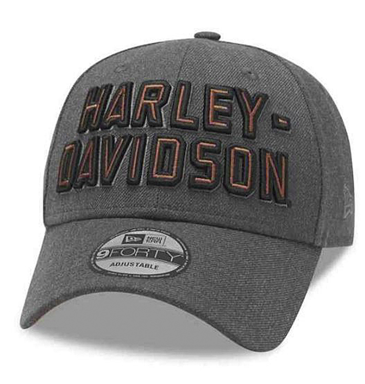 Harley-Davidson® Men's 9FORTY® Grey Baseball Cap   3-D Embroidery   New Era®   One Size Fits Most