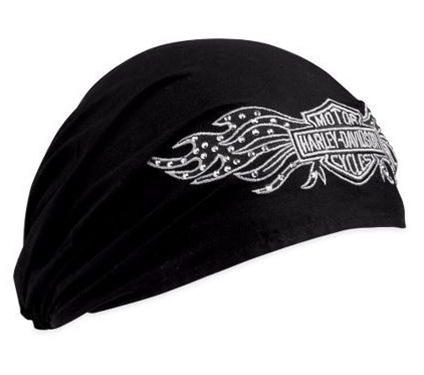 Harley-Davidson® Women's Studded Winged Bar & Shield Head Wrap