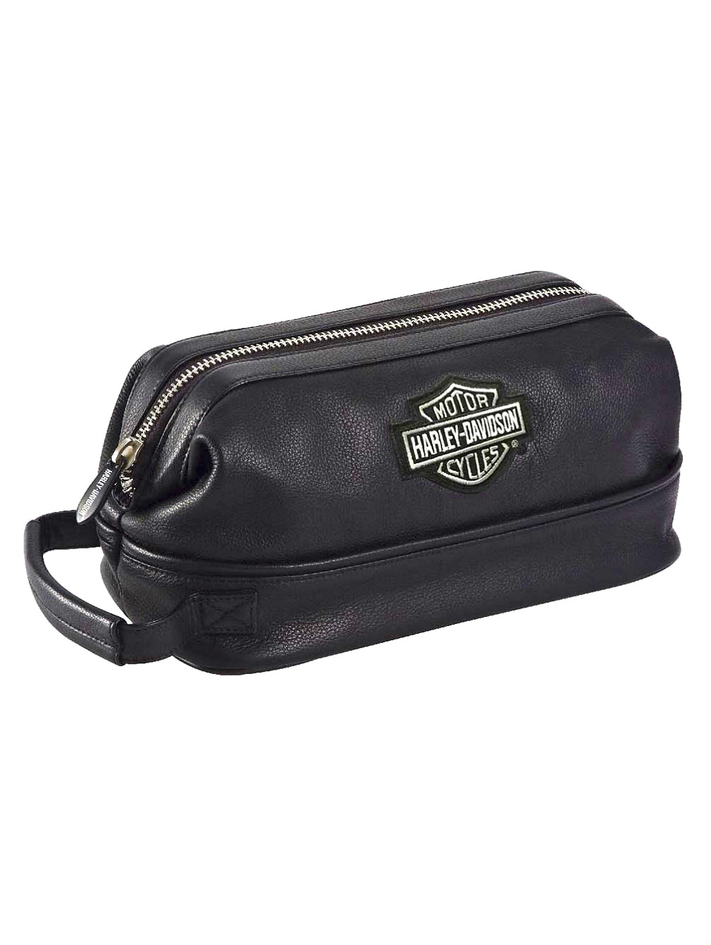 Harley-Davidson® Leather Toiletry Bag