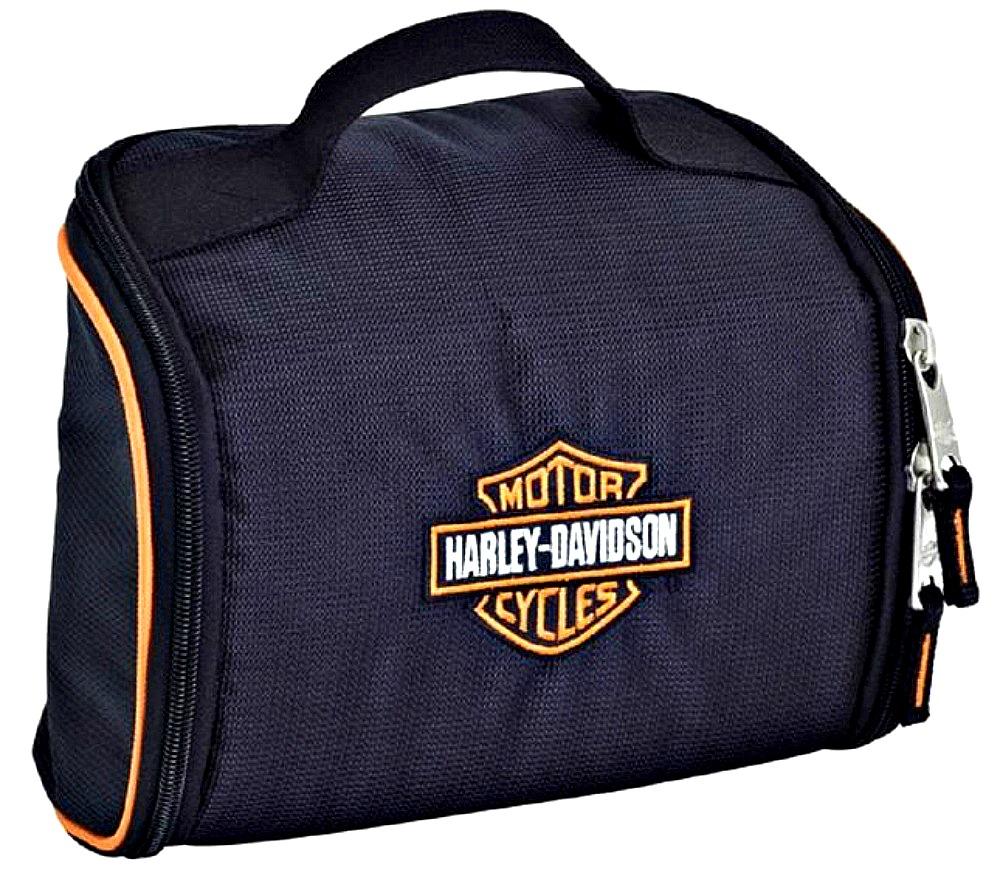 Harley-Davidson® Fabric Toiletry Kit in Black | Bar & Shield® Logo