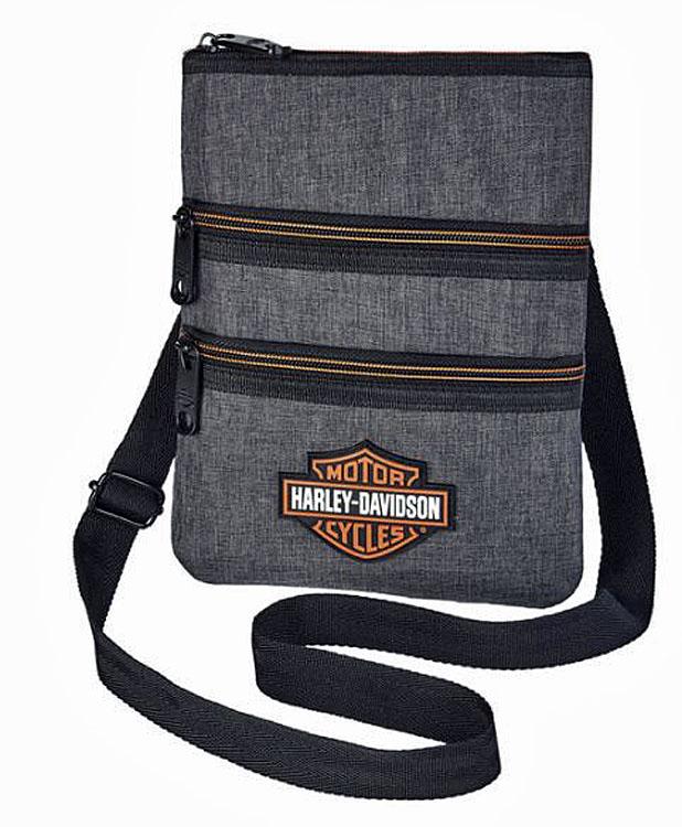 Harley-Davidson® Women's Heathered Grey Crossbody Bag   Sling Bag   Hip Bag