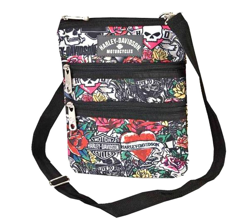 Harley-Davidson® Women's Tattoo Print Crossbody Bag   Sling Bag   Hip Bag