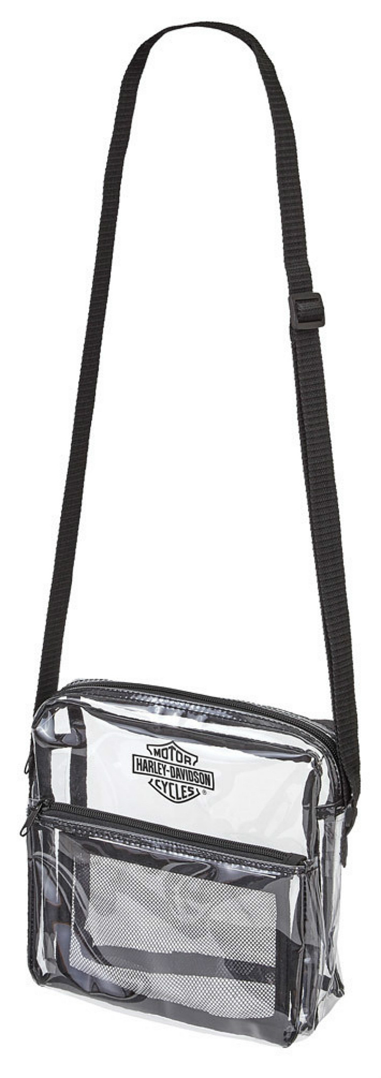 Harley-Davidson® Total Transparency Clear Messenger Bag | Adjustable Strap | Security Approved