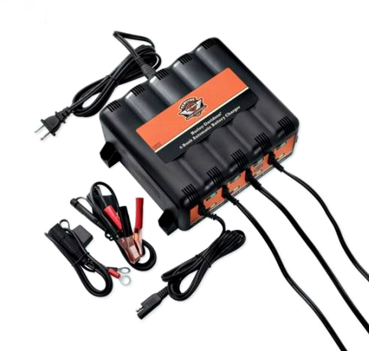 Harley-Davidson® 1.25 AMP Battery Charging Stations | 4 Bank